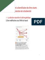 T1A3 de La Diversification Des Etres Vivants a l Evolution de La Biodiversite