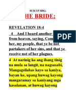 THE BRIDE , COME OUT; SUMMARY; 6-14-2020