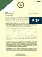 Robredo's letter to Briones