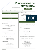 Aula 03_Fatoração, produtos notáveis e racionalização