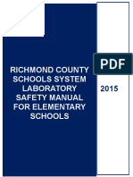 RICHMOND COUNTY SCHOOLS SYSTEM LABORATORY SAFETY MANUAL FOR ELEMENTARY SCHOOLS