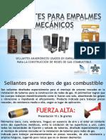 SELLANTES PARA EMPALMES MECÁNICOS
