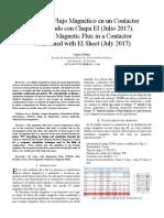 Estudio de Flujo Magnetico CHAPA EI60 IEEE