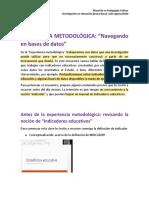Experiencia metodologica_navegando en bases de datos
