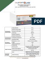 Kilowatt Labs Sirius-Technical Data Sheet-1860-48-B-1C-M-SD-A-G