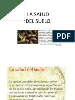LA SALUD DEL SUELO
