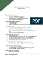 Basics of Sanitary Sewer (November 2016)