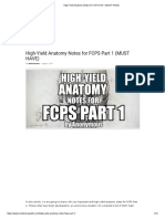 High-Yield Anatomy Notes for FCPS Part 1 (MUST HAVE)