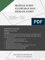Strategi Audit Keseluruhan dan Program Audit - Kelompok 3