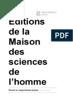 Penser le comportement animal - 18. «Ceux que les animaux ne regardent pas» - Éditions de la Maison des sciences de l'homme.pdf