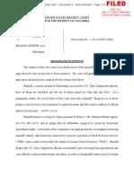 SUTZ v POWERS ET AL Judge Memorandum Opinion