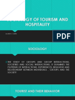 SOCIOLOGY OF TOURISM AND HOSPITALITY