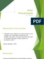 aula humanização