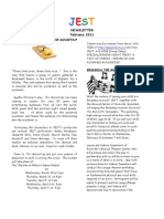JEST Newsletter February 2011