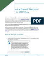 Emsisoft - How to Stop Djvu