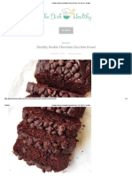 Healthy Double Chocolate Zucchini Bread - The Dish On Healthy