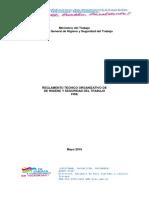 REGLAMENTO TECNICO ORGANIZATIVO DE HIGIENE Y SEGURIDAD DEL TRABAJADOR FISE ACTUAL-2016