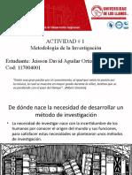 Aguilar Ortiz Jeisson David, Actividad 1 Y temas de investigación