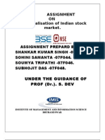 Demutualisation of Indian stock market.
