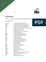 LTE Acronyms