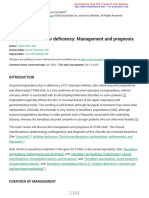 Acquired C1 inhibitor deficiencyManagement and prognosis