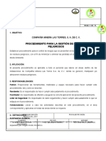 PA-CA-001-00 PROCEDIMIENTO PARA EL DESARROLLO DE REPORTE MENSUAL