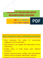 INDIA & ITS RELATIONS WITH NEIGHBOURING NATIONS