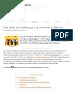 Des outils accessibles pour la formation à distance _ Carrefour éducation