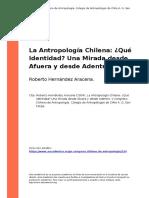 La Antropologia Chilena Que Identidado Una Mirada desde Afuera y desde Adentro
