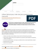 Utiliser Kahoot pour créer des jeux-questionnaires interactifs _ Carrefour éducation