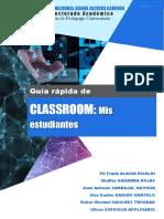 012 GUÍA RÁPIDA - CLASSROOM. Mis estudiantes v1.0