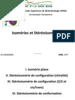 Cours isoméries et stéréoisoméries-ENSB-Dr S.BOUSSAHA