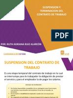 6 SUSPENSION Y TERMINACION DEL CONTRATO DE TRABAJO
