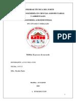 Informe Proceso de envasado
