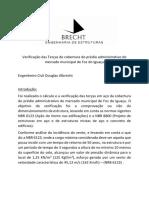 Verificação das terças  - Projeto de Cobertura  Prédio admistrativo MERCADO MUNICIPAL