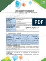 Guía de actividades y rubrica evaluación - Actividad 5 - Evaluación final.docx