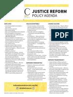 IBLC Justice Reform Policy Agenda