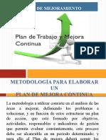 Plan de mejoramiento  y Equipos de trabajo y