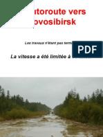 l'autoroute vers Novossibirsk
