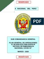 PGO N° 8 ESTADO DE EMERGENCIA NACIONAL COVID-19