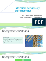 Bloqueos de raíces nerviosas y paravertebrales