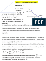 COEFFICIENTS THERMOELASTIQUES