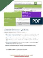 Guía Clases de Reacciones Químicas