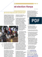 GBV in post-election Kenya