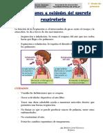 RESUMEN-Las funciones y cuidados del aparato respiratorio.