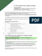 Les 4 stratégies de gestion des risques projet