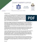 Oswego Co. Sheriff Statement 8/13/2020