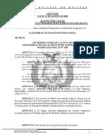 """""""Ley modificatoria de la ley N°1297 de postergación de las elecciones generales 2020, modificada por ley  N°1304"""""""