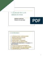 CALIDAD EN LAS MEDICIONES 2007-10-17