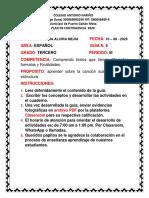 5.    PLAN DE CONTINGENCIA ESPAÑOL 3 PERIODO